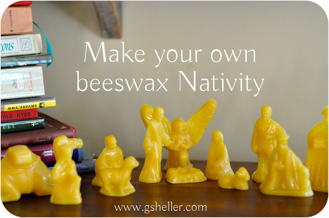 make your own beeswax Nativity