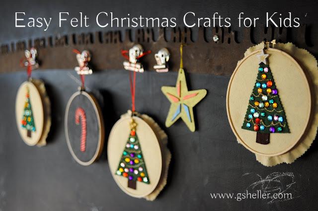 felt Christmas crafts for kids