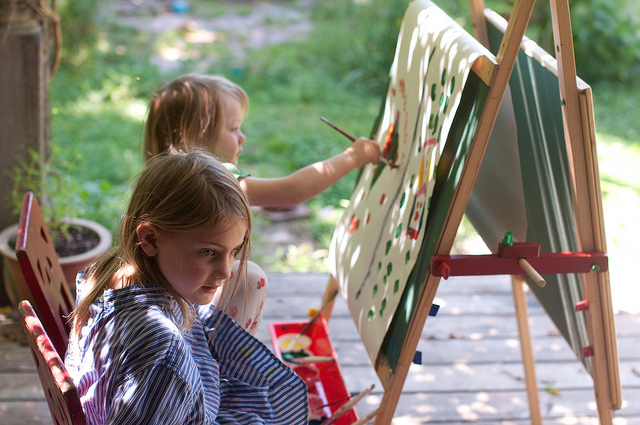 painting on the porch
