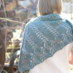 rusty old metal + pretty new shawl