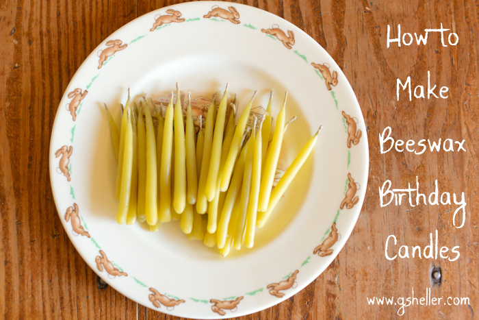 How to make beeswax birthday candles