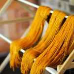 To Pumpkin Orange (dyeing yarn with tickseed sunflowers)