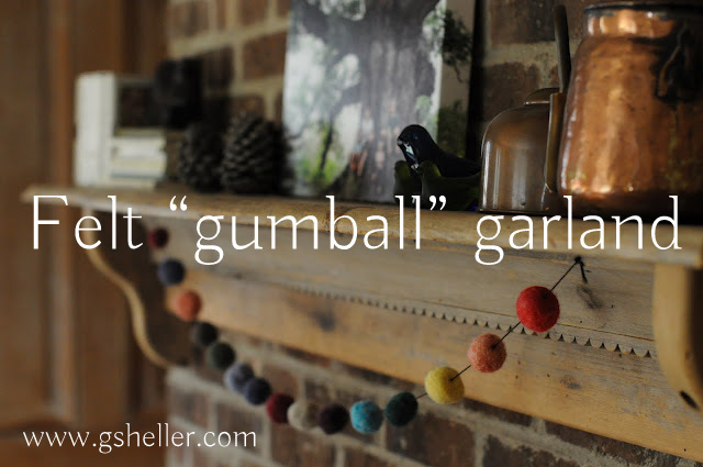 felt ball garland and other Christmas crafts for kids