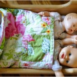A doll cradle makeover