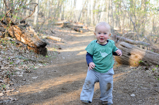 Silas on Rose River Falls trail