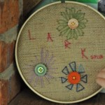Afternoon embroidery with Larkspur