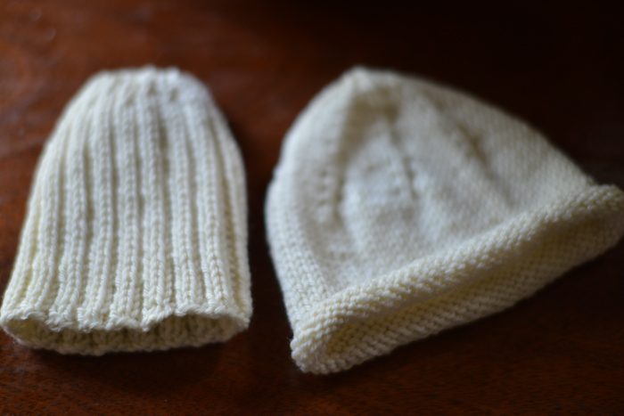 baby knits (hats)